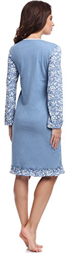Be Mammy Mujer Camisón Premamá BE20-125 Azul
