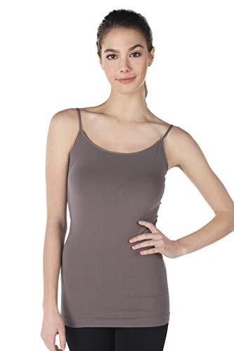 NIKIBIKI Women Seamless Premium Classic Camisole, Made in U.S.A, One Size (Pewter)