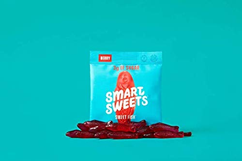 SmartSweets SweetFish 1.8 oz bags (box of 35), Candy with Low-Sugar (3g) & Low Calorie (80)- Free of Sugar Alcohols & No Artificial Sweeteners, Sweetened with Stevia (35 Count) by SmartSweets