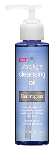 Neutrogena Ultra Light Facial Cleansing Oil & Makeup Remover, Non-Comedogenic Face Oil Cleanser to Remove Dirt, Oil, Makeup & Waterproof Mascara, 4 fl. oz (Pack of 2)