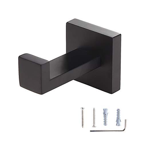 - Toprema Robe Hook Single Towel Clothes Coat Hook Stainless Steel Matte Black Hanger Bathroom Lavatory Kitchen Cabinet Closet Hardware Wall Mount 1 Pack