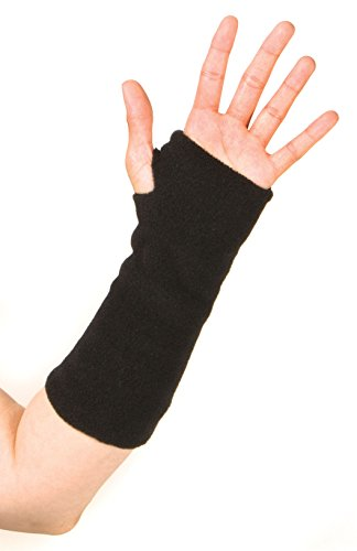 """Wristies"" Hand Warming Practice Gloves - Original Long Length for Large Hands: Black"