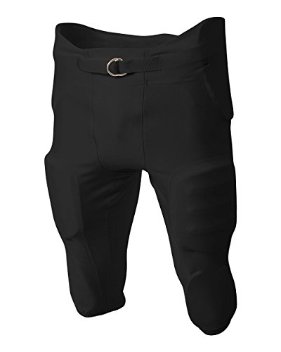 A4 Sportswear Adult 3X Black Football Pants 4-Way Stretch Integrated Pads
