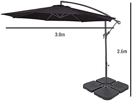 Beige UV Resistant Garden Cantilever Hanging Umbrella with Easy Tilt Operation for Outdoor BillyOh 3m Parasol Garden and Patio