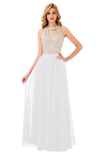 Aishanglina 2017 Long Beaded Backless vestidos de fiesta Formal Evening Gown Party Pageant Dresses at Amazon Womens Clothing store: