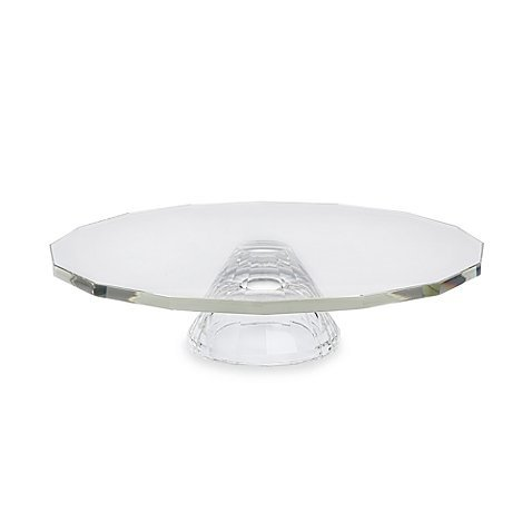 "Oleg Cassini Footed Cake Plate/Crudite Made using hand sculpted crystal, 13"" diameter"