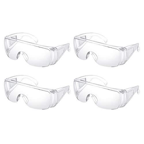 Milisten 8pcs Protective Safety Glasses Medical Goggles Eye Protection Glasses Anti Splash Transparent Eyewear Safety Face Shield For Women Men