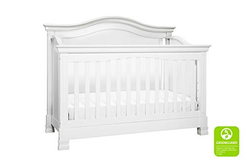 Million Dollar Baby Classic Louis 4-in-1 Convertible Crib with Toddler Bed Conversion Kit, White