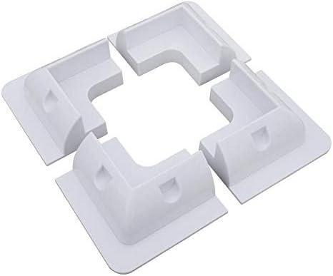 flower205 Montagehalterung für Sonnenkollektor White Square Set Kit Adhesive Bond 4-teilig