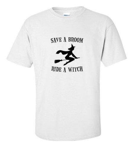 Halloween Save A Broom Ride A Witch T-shirt Funny (Walmart Halloween Shirts)