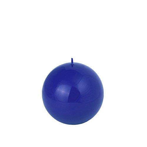 60 mm Durchmesser Kugelkerze blau glänzend Königsblau Kugel
