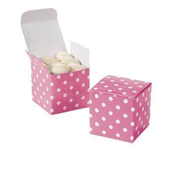 Fun Express Candy Pink Polka Dot Gift Boxes (2 Dozen)