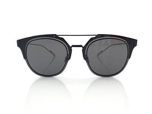 [Dior Homme Composit 1.0 006 Black Composit Round Sunglasses Lens Category 3 Siz] (Christian Dior Homme Sunglasses)