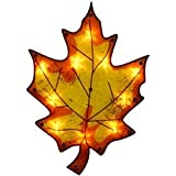 "Impact 16"" Lighted Thanksgiving Maple Leaf Window Silhouette Decoration"
