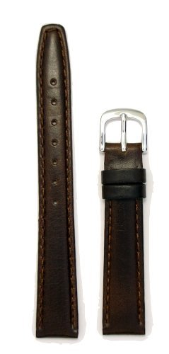 Ladies Genuine Italian Oil Tanned Leather Watchband Brown 13mm Watch Band - by JP Leatherworks