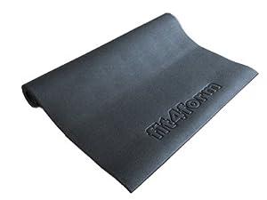 fit4form Bodenschutzmatte 220 x 110 cm für Fitnessgeräte, Crosstrainer,...