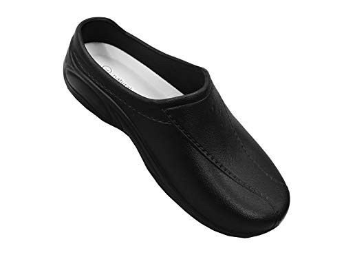 296e99f2c073f Natural Uniforms Womens Ultralite Strapless Clogs, Black, 9 M US