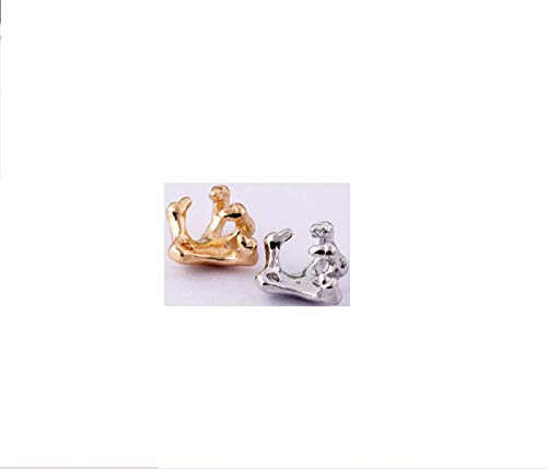 (Dmeiling Stylish Skeleton Hand Ear Cuff Silver Plated Ear Bone Cartilage Cuff Wrap Clip Earring 2 Piece )