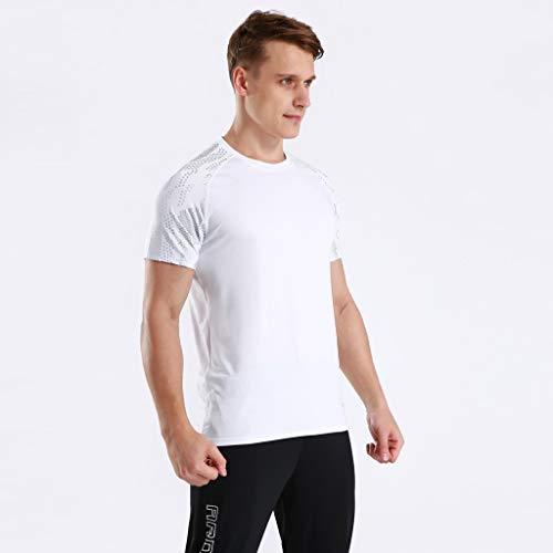 Winsummer Men's Dry Fit Athletic Shirts Short Sleeve T-Shirt Running Fitness Tee Shirts Crewneck Tshirts by Winsummer (Image #3)