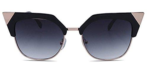 - Zarfati New York Retro Sunglasses Cat Eye (Black)