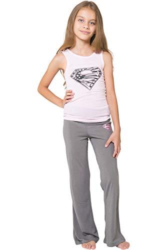 Robin X Kid Flash (DC Comics Girls 'Superman Supergirl Americana' Yoga Pajama Set, Pink, )