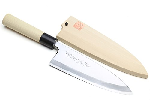Yoshihiro High Carbon Shiroko Kasumi Deba Japanese Fillet Chef's Knife 6''(150mm) by Yoshihiro (Image #7)