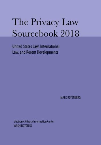 Privacy Law Sourcebook 2018