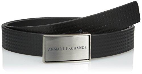 Armani+Exchange+Men%27s+Embossed+Printed+Belt+Accessory%2C+-black+print+diamond%2C+TU
