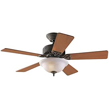 31JRyxNrLQL._SL500_AC_SS350_ hunter 20412 auberville 1 light 44 inch five blade ceiling fan  at edmiracle.co