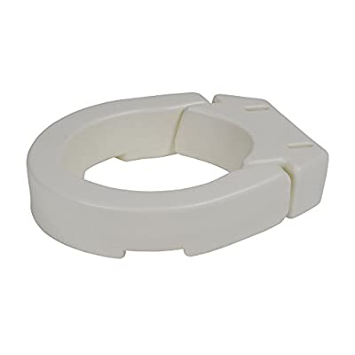 Drive Medical Hinged Toilet Seat Riser, Standard Seat