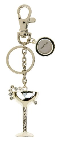 C.R. Gibson Toasting Glass Keychain/Purse Charm by C.R. Gibson