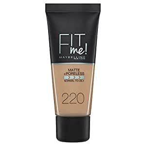 Maybelline New York Fit Me Matte & Poreless Face Foundation - 1.01 oz., 220 Natural Beige