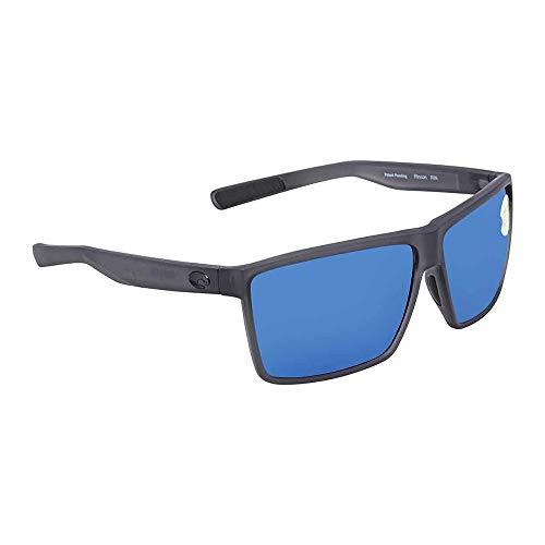 - Costa Del Mar Costa Del Mar RIN156OBMP Rincon Blue Mirror 580P Matte Smoke Crystal Frame Rincon, Matte Smoke Crystal Frame, One Size, Blue Mirror 580P