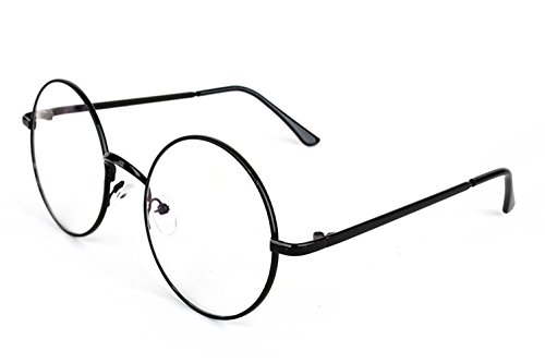 3 Pairs Round Wire Clear Lens Eye Glasses Costume Accessory (Black) (Geek Costume Accessories)