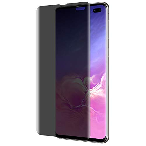 Ruiooy-Fit for Galaxy S10 Plus Privacy Screen Protector Full Adhesive Plastic Soft Film, Anti-Spy Screen, Anti-Scratch, Anti-Shock, Bubble Free, (NOT Tempered Glass)[1-Pack]