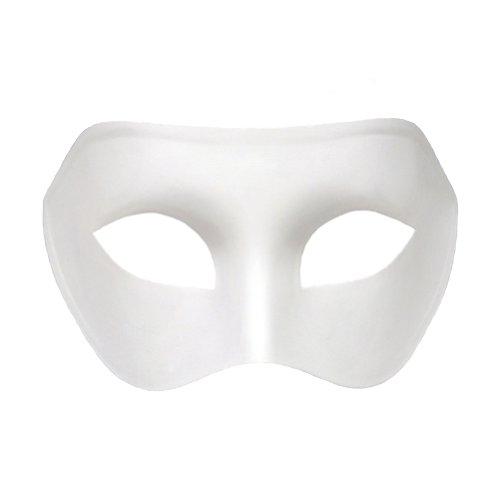 White Venetian Masquerade Mask ~ Mardi Gras Masks (STC12905)