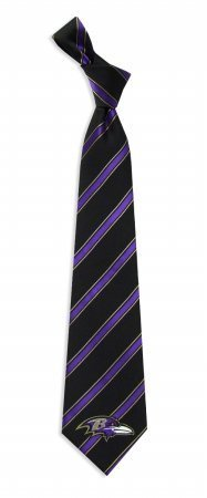 NFL Baltimore Ravens Black Striped Woven Tie
