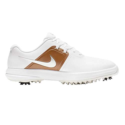 NIKE Air Zoom Victory Golf Shoes 2019 White/Metallic Silver/Lt British Tan Medium 14 (Best Golf Shoes For 2019)