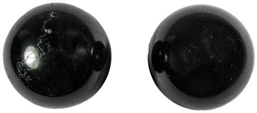 Meditation Qi-Gong-Kugeln   Yin Yang   Design Stein schwarz   verschiedene Durchmesser (Ø 50 mm)