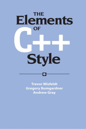 The Elements of C++ Style (Sigs Reference - Blu E Sig