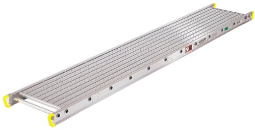 Werner 2412 500-Pound Duty Rating Two-Person Aluminum Scaffold Plank, 14-Inch Wide by 12-Feet Long by Werner