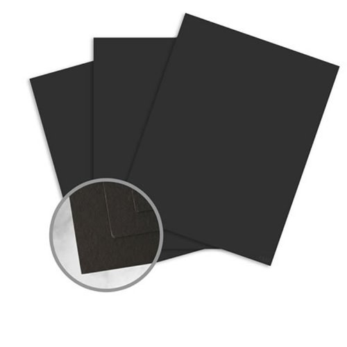 Via Vellum Black Card Stock - 8 1/2 x 11 in 80 lb Cover Vellum 30% Recycled 250 per Package