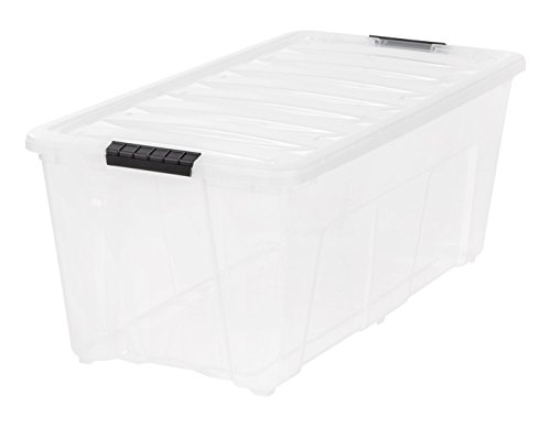 IRIS 83.7 quart Stack & Pull Box, Clear, 5 Pack by IRIS USA, Inc.