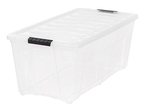 IRIS 83.7 quart Stack & Pull Box, Clear, 5 Pack