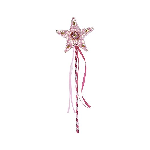 (SHU-SHI Wand Child Princess Star Toy Magic for Boys and Girls Handmade Wooden Pink)