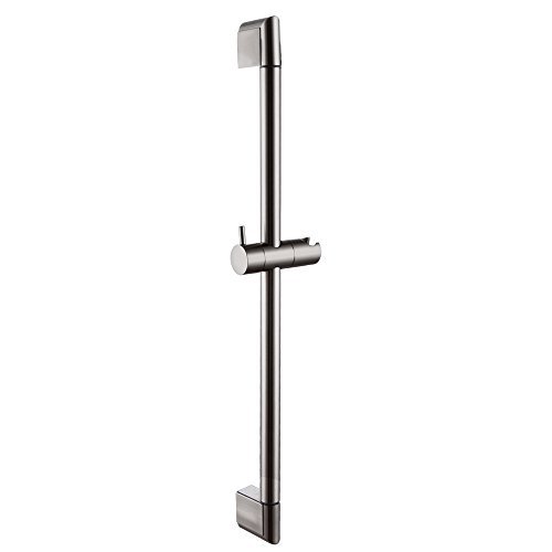 KES 25-Inch Bathroom Hand Shower Slide Bar Stainless Steel Bar Adjustable Sliding Showerhead Bracket Holder Contemporary Style Wall Mount Brushed Nickel, (Nickel Support Bar Bracket)