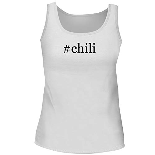 BH Cool Designs #Chili - Cute Women's Graphic Tank Top, White, X-Large