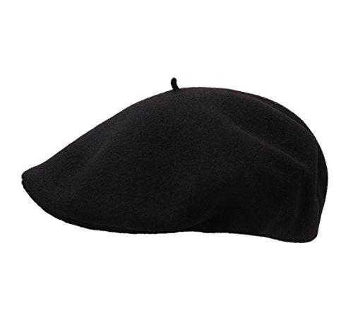 Laulhère Men's Beret Casquette Beret Size M Black