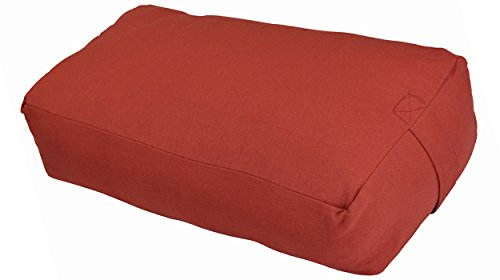 (YogaAccessories MAXSupport Deluxe Rectangular Cotton Yoga Bolster - Cardinal Red)