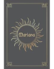 MARIANA JOURNAL GIFTS: Lined Notebook with Personalized Name On The Cover (Perfect Present for All Events)